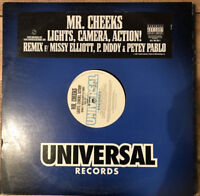 "Mr Cheeks Lights Camera Action Vinyl Record 90s Hip Hop 12"" Rap"