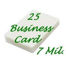 25 Business Card 7 Mil Laminating Pouches Laminator Sheets 2-1/4 x 3-3/4 Fast