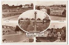 Devon; Devon Coast Country Club Multiview RP PPC, Unposted, By Tuck, c 1950's
