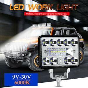 1×Work Spot Light Bar 6000K Car Auto Truck Off-road SUV Fog Lamp IP67 18LED 54W