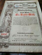 Anleibe des Deutschen Reichs 1890 aandelen 1000 mark