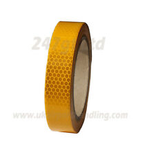 NEW HIGH INTENSITY REFLECTIVE TAPE YELLOW 10mm x 10m