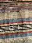 Primitive RAG RUG Antique European runner striped plaid hall~stair carpet AF 11'