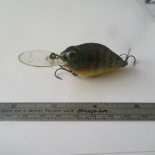 "FISHING LURE KAUTZKY  2""  NATURAL  IKE    GREEN & ORANGE"