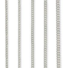 Cadena en Plata de Ley 16 18 20 22 24 30 925 Plano Diamante Corte Rastro Collar