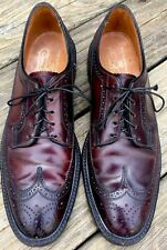 STUNNING Florsheim Imperial 93605 Shell Cordovan Kenmoor Long Wing Shoes Sz 10 A