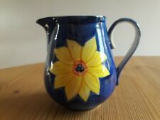 Cheerful Blue Sunflower Milk Jug Creamer By Whittard Of Chelsea