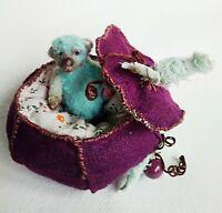 Teddy bear Bim in pumpkin OOAK Artist Teddy by Voitenko Svitlana.