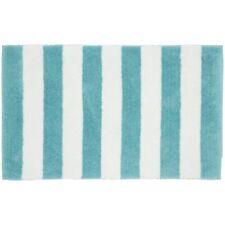 Beach Stripe Sea Foam/White Washable Bath Rug sea foam/white 21 x 34