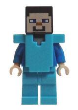 Lego Minecraft Steve min042 (From 21130) Armor Minifigure Figurine Minifig New