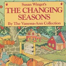 Susan Winget Changing Seasons Cross Stitch Book HC Cat Spring Summer Fall Winter