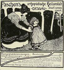 Paschen's Orthopädische Heilanstalt Dessau Reklame Werbung Inserat Anzeige 1898