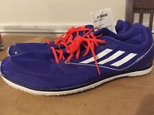 Adidas Adizero Cadence 2 Distance Spikes Track Shoes Blue/White US 12.5 New