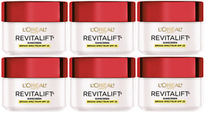 L'Oreal Revitalift Anti-Wrinkle + Firming Day Cream Moisturizer, 1.7 oz (6 Pack)