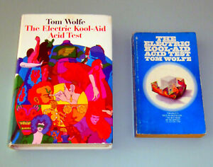 2 book TOM WOLFE ELECTRIC KOOLAID ACID TEST KEN KESEY PSYCHEDELIC LSD TIM LEARY