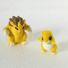 Sandslash & Sandshrew Original Nintendo Pokemon Mini Figures 1 Inch Bundle