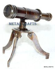 Vintage BrassTelescope Stand Mini Victorian Pirate Nautical Collectible Desktop