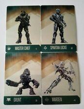 targetas metalicas muy raras halo 5 master chief, warden, grunt y spartan locke