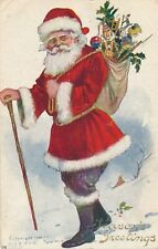 CHRISTMAS – Santa Walking with Walking Stick
