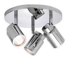 Astro Como Polished Chrome triple Bathroom Ceiling spotLight