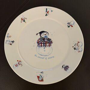 Bath & Body Works 1999 Holiday Edition Snowman plate