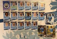 TOPPS UEFA CHAMPIONS LEAGUE 2020/21 SET OF ALL 20 MAN CITY STICKERS INC FOILS