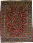 Semi Antique Floral Classic 9X12 Signed Hand-Knotted Vintage Oriental Rug Carpet