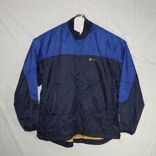 Starter Mens Size XL Windbreaker Full Zip Mesh Lined Jacket Blue Black Yellow