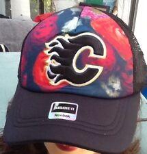 Calgary Flames, Hat, NHL Fan Gear, Adult, Women's  Adjustable, Reebok Faceoff