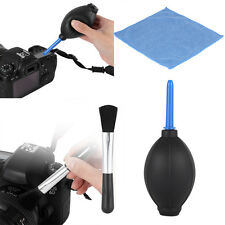 Durable Lens Cleaning Cleaner Dust Blower Brush Cloth Kit For DSLR VCR Camera CL