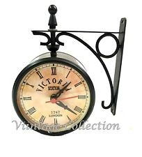 Victoria Station Double Sided Railway Clock Functional Clock Home Decor Vintage
