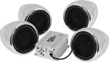 Boss Audio 1000 Watts 4-Speaker Bluetooth Son Système Chrome MC470B
