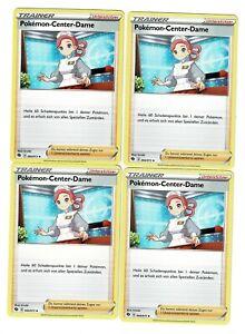 4 x Pokemon-Center-Dame SWSH 3.5 Weg des Champs Playset Deutsch Near Mint