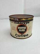 Vintage Kellogs Kaffee Hag Coffee One Pound Can