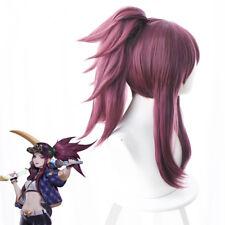 League of Legends Akali KDA Skin s8 Cosplay Kostüm Costume Perücke wig ponytail
