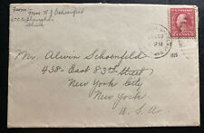 1920 USA Postal Agency In Shanghai China Cover To New York USA