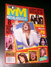 FACES ROCKS METAL MUSCLE MAGAZINE JULY1986 - KISS OZZY RANDY RHOADS