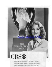 MARIETTE HARTLEY Terrific Original TV Photo PEOPLE'S CHOICE AWARDS