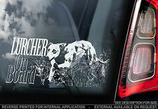 Lurcher - Car Window Sticker - Dog on Board Art Sign Gift - n.whippet,greyhound