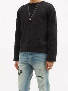 AMIRI Shotgun Sweatshirt Tee | Black | Size S XL 2XL| 100% Authentic | Crew