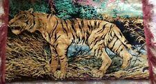 Retro Vintage Tiger Wall Hanging / Carpet 92cm x 54cm