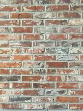 brick slips brick tiles reclaimed 19th century clay dark red with mortar