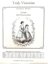TV600 Truly Victorian Sewing Pattern for 1869 Childs Troddler Princes Dress