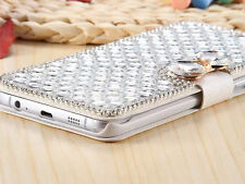 Lady Women Wallet Bling Diamond Flip Leather Case Cover For iPhone Samsung S002