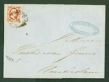 NEDERLAND nr 2 op briefomslag van Roermond naar Amsterdam Certificaat Dr Louis