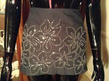 Black Hollister Sequinned Evening Mini Skirt