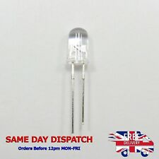 LED Diode Ultra Bright 5mm Clear Round Head Transparent