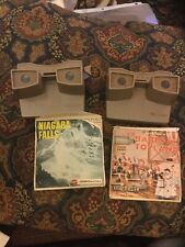 2 Vintage View Master Viewmaster Sawyer Viewers + Babes In Toy land & More