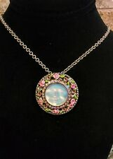 """KIRKS FOLLY """"EXPECT MIRACLES""""  SEAVIEW MOON PENDANT & CHAIN/BROOCH PIN  NEW"""