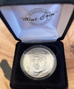 The Highland Mint JOHN ELWAY Limited Edition #06269 Brushed Nickel Coin